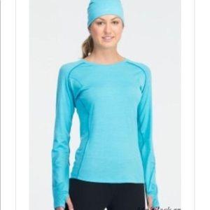 Icebreaker merino wool blue long sleeve tee XS